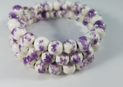 Double-Strand Beaded Wire Bracelet