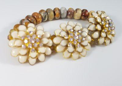 Flower Cuff Beaded Bracelet 2