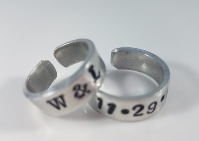 Hand stamped Expandable Rings