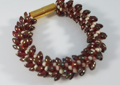 Kumihimo Bracelet with Long Magatama Beads