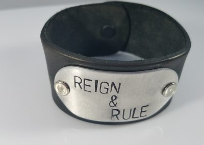 Leather Cuff Bracelet REIGN & RULE